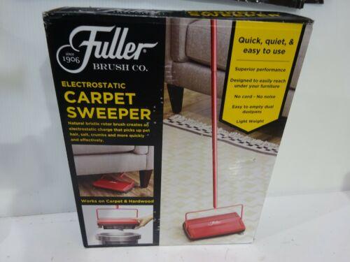 Fuller Brush Co. Electrostatic Carpet Sweeper - Red