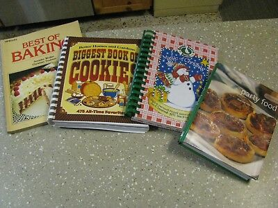 4 Cookbook Lot Magic of Christmas Best of Baking Biggest Book Cookies Party