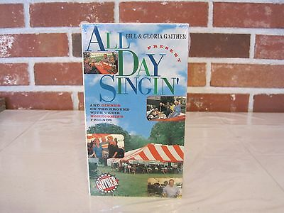 Used, 1995 BILL AND GLORIA GAITHER--ALL DAY SINGIN' VIDEO--VHS-NEW-FACTORY SEALED for sale  Olar