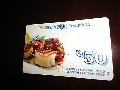 50 Dining Dough Certificate NEVER EXPIRE NATIONWIDE RESTAURANTS See Description - $6.99