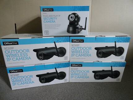 5 Security CCTV cameras (2 new & 3 Used) (Wifi or Wired)
