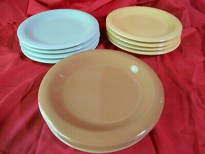 Beautiful GIBSON China Assorted Color Edition- Set 11 BREAD-SALAD-DESSERT Plates ()