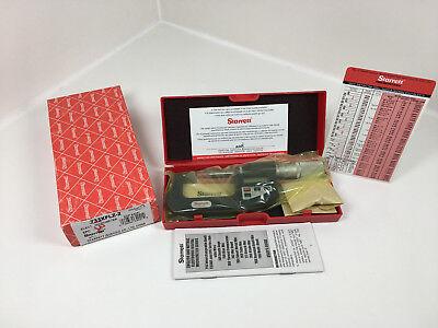 Starrett 733xflz-2 Electronic Lcd Outside Micrometer 1-2 In New