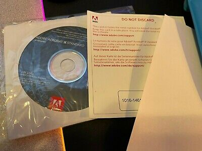 Adobe Acrobat X 10 Standard for Windows with Serial Number