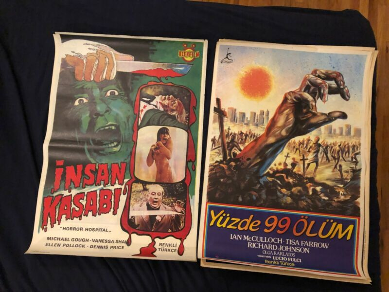 Vintage Turkish Horror Movie Posters lot (9 posters)