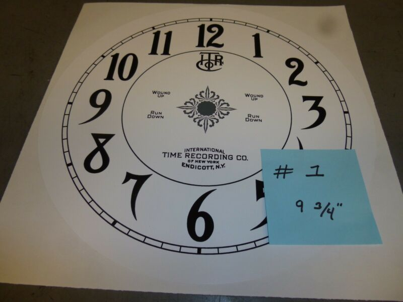 REPLACEMENT DIAL FACE INTERNATIONAL TIME RECORDING  antique time clock vintage