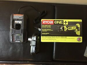 Ryobi rotary tool with battery and charger