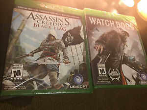 Watch Dogs and Assassins creed black flag (Skyrim SE also)  Kitchener / Waterloo Kitchener Area image 1