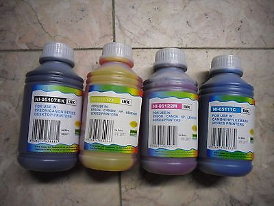 4 X 500ml Dye Refill Ink For Hp 45 44 Designjet 750c Plus...