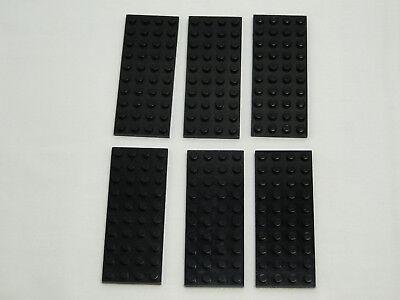 LEGO 6 X PLATTE 4X10 SCHWARZ 3030