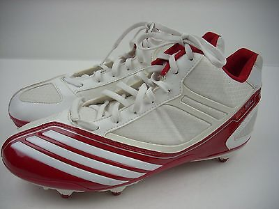 77e2d4b27fa NEW ADIDAS Football Shoes US 9 UK 8.5 Red White Cleats Lacrosse Thrill  Scorch