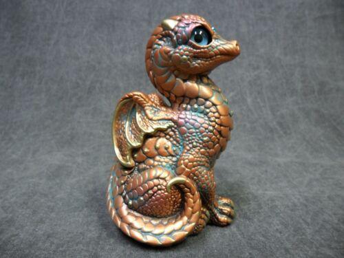 Windstone Editions NEW * Copper Patina Baby Dragon * Statue Figurine Fantasy