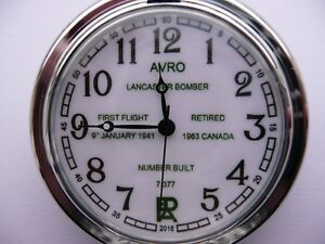 limited avro lancaster bomber pocket watch only 100 made number on back nice