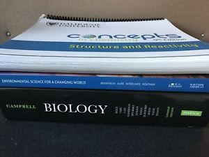 First year Environmental science, chemistry, biology books
