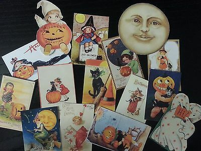 BB45 -- Lot of 15 Adorable HALLOWEEN GREETING CARD DIE CUTS for crafts making](Making Halloween Cards)