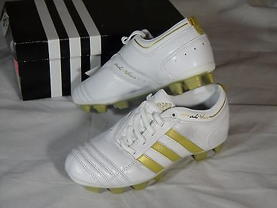 7451a467381 New Womens Adidas Adinova TRX FG Soccer Cleats Boots White Gold size 5 US  404274