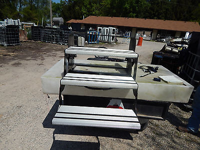 RV Trailer Motorhome Steps, 3 Step, New, Aluminum Tread, Foldable Entry, #9