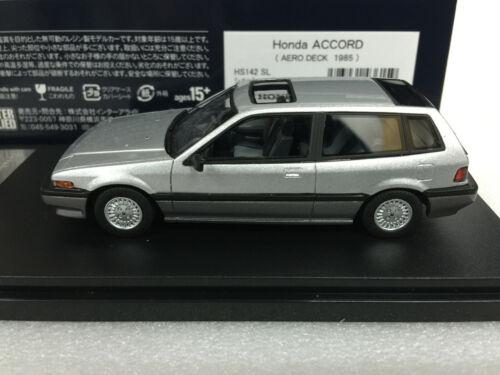1:43 HI STORY HS142SL 1985 HONDA ACCORD AERODECK SILVER model car