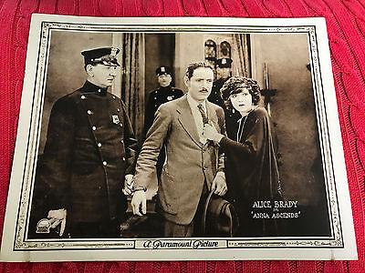 Anna Ascends 1922 Paramount silent lobby card Alice Brady David Powell