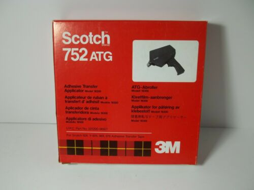 3M SCOTCH 752 ATG ADHESIVE TRANSFER  APPLICATOR MOD. 18300 IN BOX WITH INSTRUCT