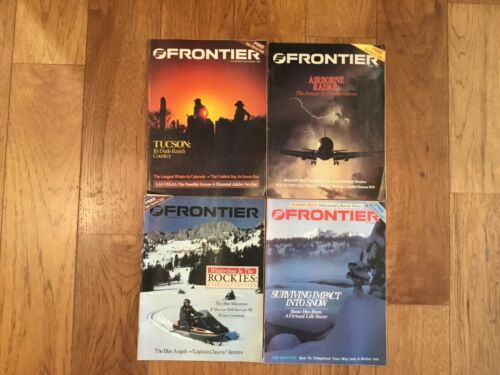 Lot of 4 Frontier Airlines Magazine 1980 1981