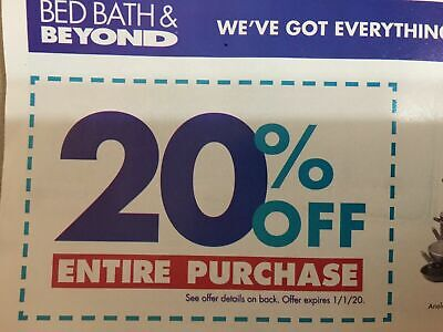 Bed Bath & Beyond Couponn 20% off ENTIRE PURCHASE In-Store & Online Digital (Digital Gift Certificates)