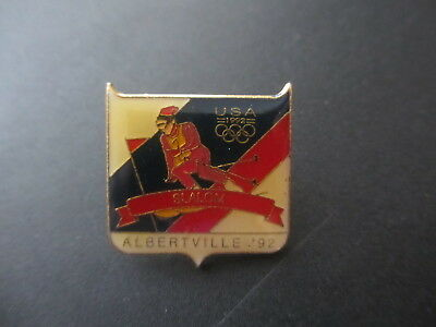 1992 ALBERTVILLE WINTER OLYMPIC GAMES SLALOM SKIING LAPEL PIN