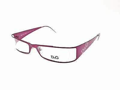 $405 DOLCE GABBANA WOMEN PURPLE EYEGLASSES FRAME GLASS OPTICAL LENS BIFOCAL CASE