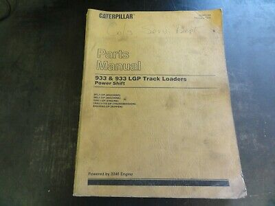 Caterpillar Cat 933 933 Lgp Track Loaders Parts Manual  Sebp2244