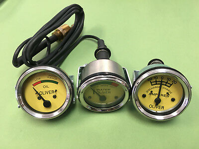 Oliver Super 55 66 77 88 99 Tractor Gauge Set Kit Oil Pressure Amp Temperature