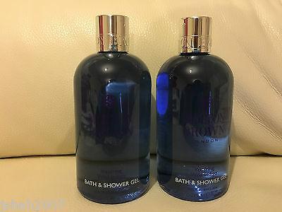 Molton Brown 2 x 300ml Inspiring Wild Indigo Bath & Shower Gel NEW *LOOK*