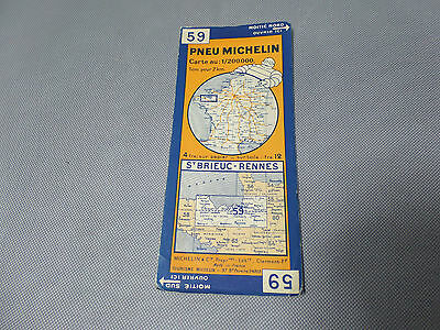 Card Michelin #59 st Brieuc-Rennes 1932/Collector Bibendum Vintage