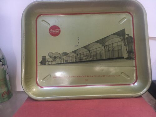 1967 RECENTLY DISCOVERED  OAXACA MEXICO PLANT COCA-COLA TRAY-10X13 INCHES-NICE