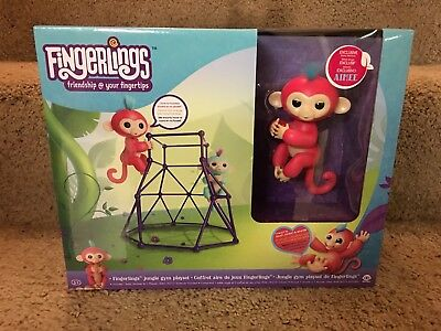 Wowwee Fingerlings Jungle Gym Playset With Exclusive Baby Monkey Aimee