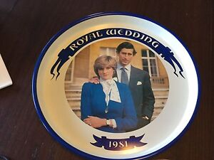 Royal Wedding 1981 Serving tray, plate, tea cup and saucer