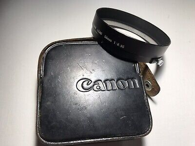Rare Canon 50mm f/0.95 Genuine Lens Shade Hood For Dream Lens With Case Mint