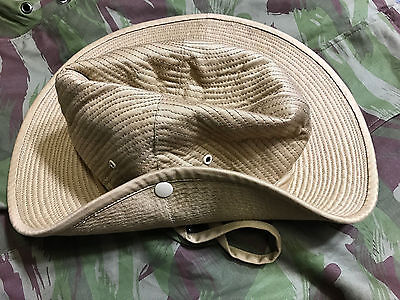 French Army Canvas Bush Hat Chapeu de Brousse Size 73/8  (59)