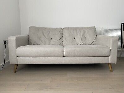 Large 2 Seater sofa - Beige/Neutral. One Year Old.