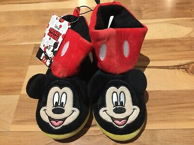 Mickey Mouse Shoes Toddler (Disney Mickey Mouse Toddler Boys Girls Boot Slippers Sizes 5-6, 7-8,)