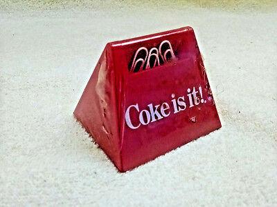 Coca-cola Paper Clip Holder Wclips-unique 6 Pack Shape-coke Is It Nos