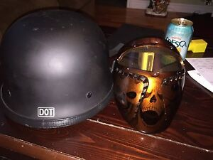 Motorcycle helmet and CSI approved face mask