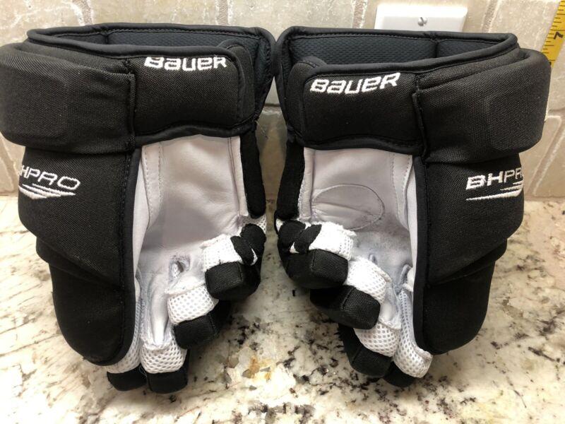 Pro Stock Bauer BHPro 4-Roll Gloves LA Kings Pearl Mustang Short Cuff