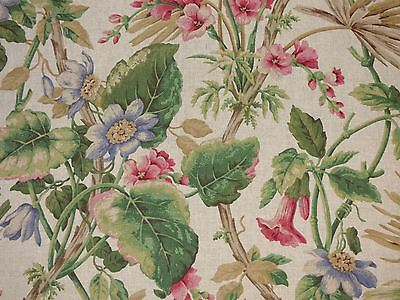 (1.5 Yards P Kaufmann Tropical Floral Foliage Home Decor Drapery Sewing Fabric )