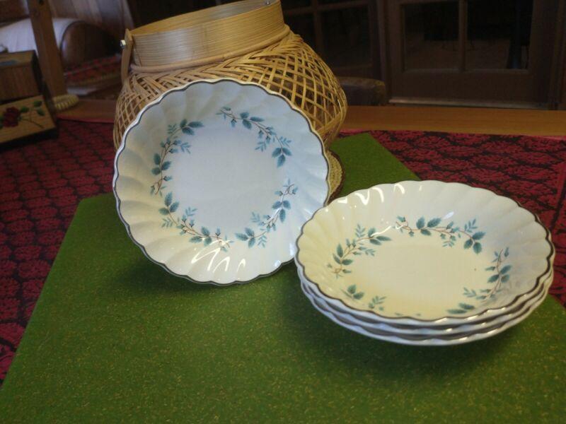 Vintage Blue Floral Dessert Bowls Set Of 4