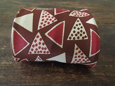 1940s Mens Ties | Wide Ties & Painted Ties 1940s 1950s Atomic Triangle Gent's Necktie Tie Rockabilly Viva Las Vegas Zoot  $34.20 AT vintagedancer.com