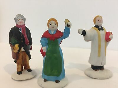 3 Ceramic People/Figurines Christmas Village/Train Settings-diorama-Victorian