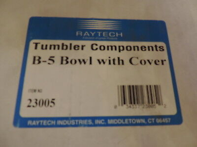 Raytech B-5 Vibratory Tumbler Bowl With Cover 8in Dia. Item 23005 Nip