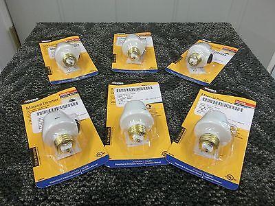 6 WESTEK MANUAL DIMMER SCREW IN SOCKET LAMP BULB LIGHT SWITCH 100W 6009B NEW