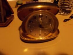 2 VINTAGE TRAVEL ALARM CLOCK seth thomas smiths 15 jewel  travel ben used