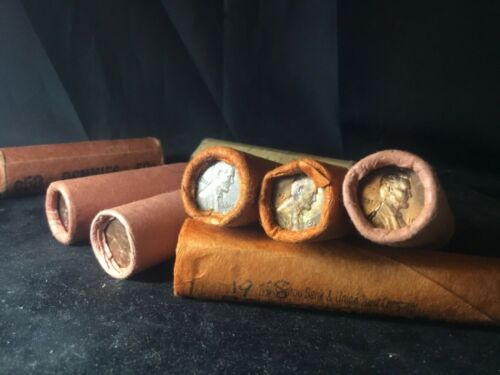 Rare Unsearched OBW Bank Roll Lincoln Wheat Penny Cents 50 pennies 100%Guarented